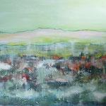 voyage du matin - Acryl mit Sand auf Leinwand - 100 x 120