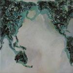 one earth - Der große Tag - Acryl mit Patina auf Leinwand - 120 x 120 - 2014