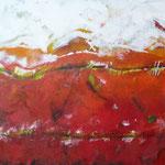 voyage de l`été - Acryl mit Sand - 100 x 160