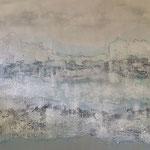 voyage d` argent - Acryl mit Sand - 100 x 160