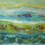 voyage d`hiver - Acryl mit Sand - 100 x 160