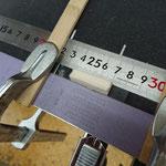 ダンパーフェルトの一本止の厚みを調整する治具を急造