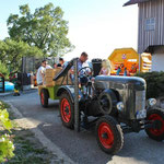 Rundfahrt mit dem Traktor