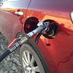 Заправка газом автомобиля