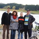 Unser Sohn mit Konrad bei uns in Zeulenroda zu Besuch