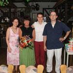 Meine Kinder Petra,Karin und ich zu meinem 60. Geburtstag