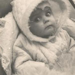 Unsere Tochter Sabine wurde kein Jahr alt.