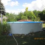 Neuer Pool auf altem Standort 4,50 m rund in Gera am 30.07.13