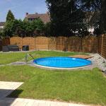 Rund-Pool 4,00 m x 1,20 m aufgebaut am 09.05.2014 in Neuwied