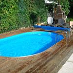 Oval-Pool 5,25 m x 3,20 m x 1,20 m in Köln-Dellbrück