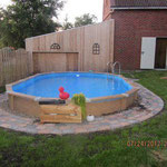 Oval-Pool Wood Style 6,10 m x 3,65 m x 1,32 m in Langen