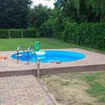 Rund-Pool 3,50 m x 1,50 m in Schönefeld aufgebaut am 10.06.13