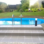 Oval-Pool 4,90 m x 3,00 m x 1,20 m aufgebaut am 28.05.13 in Gerach