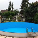 Demontage und Montage eines Rund-Pools Durchmesser 6 m in Moers am 19.07.2014
