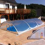 Oval-Pool 7,00 m x 3,50 m x 1,50 m aufgebaut am 16.06.12 in Steinach bei Lauscha