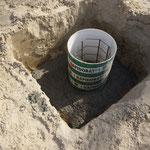 Fundament für Terassendach
