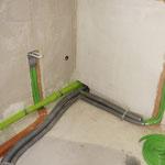 Wasseranschluss und Ablauf zur Küche