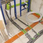 Bad EG | Wasseranschlüsse WC und Waschbecken