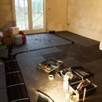 Wohnzimmer | Lüftungskanäle und Dämmplatten