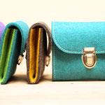Kleiner Geldbeutel aus Wollfilz 100% Wolle, ohne Plastik, biologisch abbaubar, in Deutschland handgefertigt