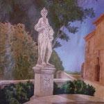 Hébé dans le parc de la Mignarde (Aix en Provence) - acrylique - 170X110