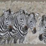 Okavanga - acrylique - enduits minéraux - 203X140