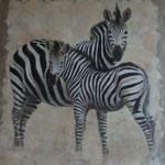 Kenya Zebra - acrylique - enduits minéraux - 118X126