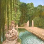 Bassin du château de Lenfant (Aix en Provence) - acrylique - 170X110