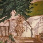 Fontaine de l'hôtel Castillon (Aix en Provence) - acrylique - 170X110