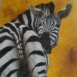 Kenya Zebra 3 - enduits minéraux - 80X80