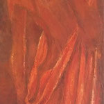 Rêve orange - enduits minéraux - 40X80