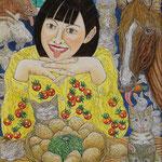 野崎 龍雄  北の恵み ジャガイモ F8 ミクストメディア
