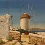 江口隆  ポニーの風車(ギリシャ)  F10