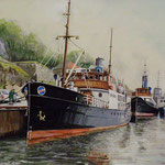 江口 隆  オスロの港 50×35.5cm