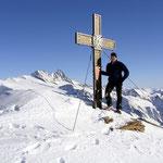 Ossi mit Gipfelkreuz