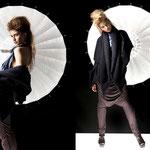 "Outfit ""Alaula""; Model: Irene A., Photography: Samira Mohamadi, H&M: Olesja Kelberer, Designer: Jennifer Moica"