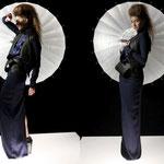 "Outfit ""Mahina"";Model: Irene A., Photography: Samira Mohamadi, H&M: Olesja Kelberer, Designer: Jennifer Moica"