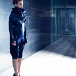 Japanese Biker Jacket, Wrap Knickerbocker; Model: Zoe, H&M: Nora SeNora, Photographer: Mike Weis, Designer: Jennifer Moica