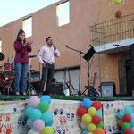 Luis Antonio León Ruíz dando la apertura a la celebración del Día del Niño