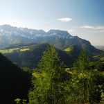 Blick vom Aussichtspunkt Lärchecker Wand auf Untersberg. Foto: © stepro.jimdo.com