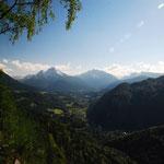 Blick auf Berchtesgaden mit Watzmann vom Aussichtspunkt Lärchecker Wand. Foto: © stepro.jimdo.com