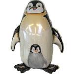 Pinguin mit Baby (ohne Helium)