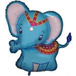 Elefant blau (Helium)