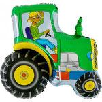 Traktor mit Hund (Helium)