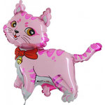 Katze pink (ohne Helium)