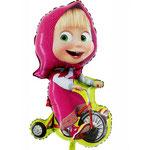 Masha auf Fahrrad (Helium)