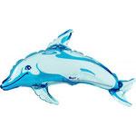 Delfin blau (ohne Helium)