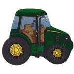Traktor grün (ohne Helium)