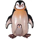 Pinguin mit Baby (Helium)