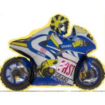 Motorrad blau (Helium)